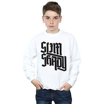 Eminem Boys Slim Shady Text Sweatshirt