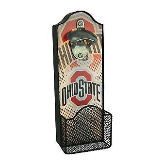 Buckeyes de Ohio State University LED iluminado abrelatas de botella con tapa colector