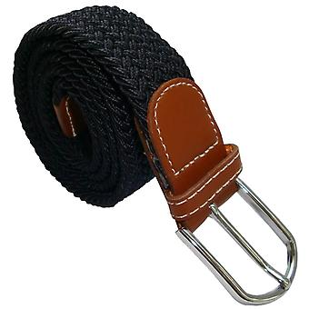 Bassin and Brown Plain Elasticated Woven Belt - Navy