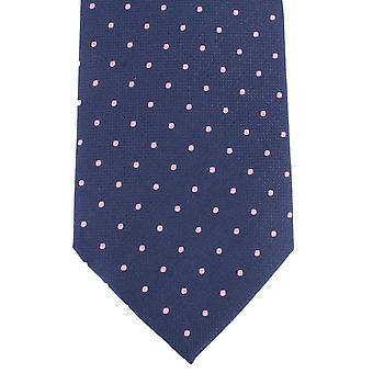 Knightsbridge Neckwear oppdaget silke slips - Navy/rosa