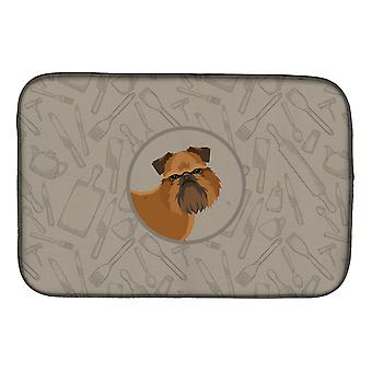 Carolines Treasures  CK2191DDM Brussels Griffon In the Kitchen Dish Drying Mat