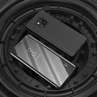 Voor Samsung Galaxy A9 A920F 2018 duidelijk zicht spiegel spiegel slimme cover zwart gevaldekking van het beschermende etui tas zaak nieuwe zaak wake UP functie
