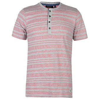 Pierre Cardin Mens Papi collier T Shirt V Neck Tee Top manches courtes Stripe