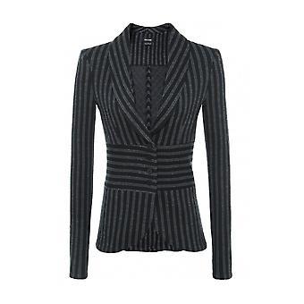 Isabel De Pedro Women's Structured Stripe Tuxedo Blazer