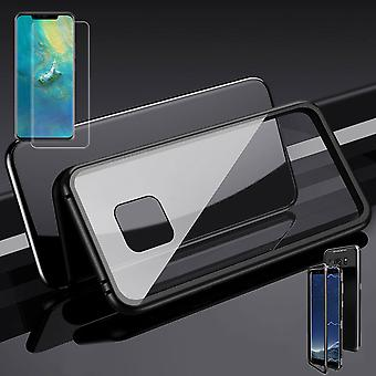Para Huawei amigo 20 imã Pro / metal / vidro caso bolsa preto / transparente + 0.3 mm 4 H9 d duro cheio curvo vidro temperado