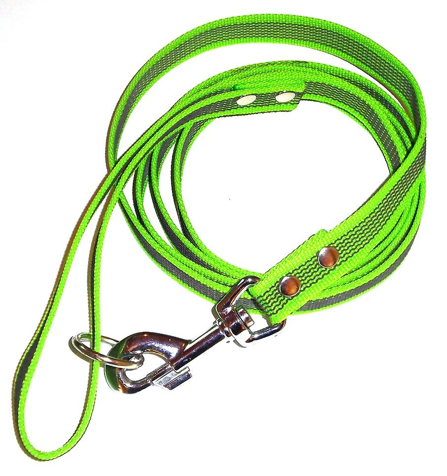 K9-Sport Super-Grip leash with handle, lime green/Black
