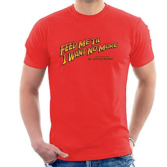 Indiana Jones Feed Me Welsh Rugby Men's T-Shirt