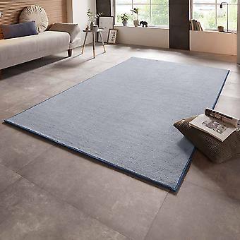Velour carpet bare uni blue