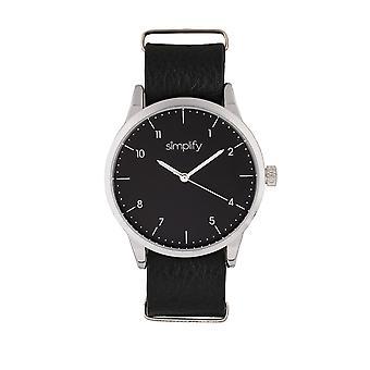 Uprościć 5600 skórzane Band Watch - Black
