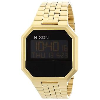 Nixon Unisex quartz Stainless steel Digital _ A158-502 _ Gold Tone