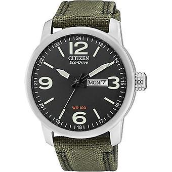Citizen BM8470-11EE Men's wristband, Nylon strap, Ger Green color