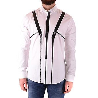 Les Hommes Urban Ezbc260006 Men's White Cotton Shirt