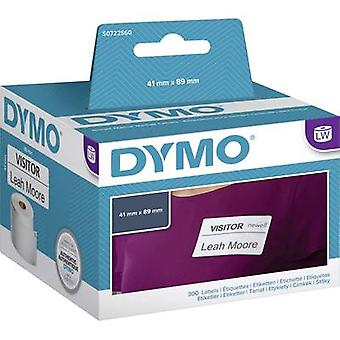 DYMO Label roll 11356 S0722560 89 x 41 mm Paper White 300 pc(s) Removable Name stickers