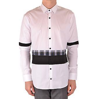 Les Hommes Urban Ezbc260013 Men's White Cotton Shirt