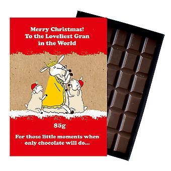 Funny Christmas Gift for Grandmother Nan or Nanny Chocolate Xmas Present for Grandma XMS122