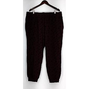 Anybody Lounge Pants, Sleep Shorts Loungewear Cozy Knit Novelty Red A296084