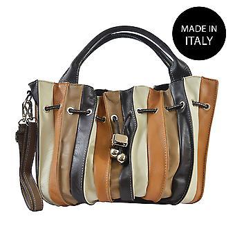 Handväska tillverkad i läder Italien 80012