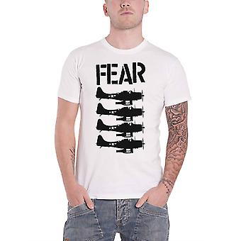 Fear T Shirt Beer Bombers Band Logo hardcore punk new Official Mens White
