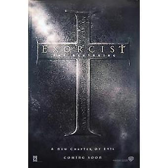 Exorcist: het begin (dubbelzijdig vooruit) originele Cinema poster