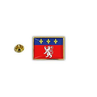 Pine Pines Badge Pin-apos;s Metal Epoxy With Papillon Papillon Flag France Lyon