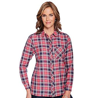 Amber Ladies Woven Viscose Check Shirt