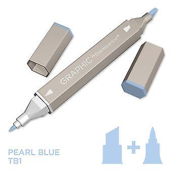 Graphic by Spectrum Noir Single Pens - Pearl Blue