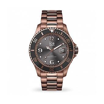 ساعة الثلج - ساعة اليد - للجنسين - ICE Steel - برونزي - كبير - 3H - 016767
