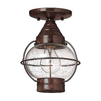 Elstead-1 lys udendørs flush loft lanterne Sienna bronze-HK/CAPECOD8/S