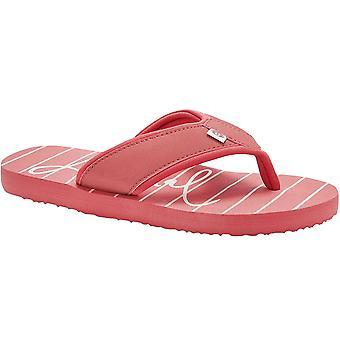 Dierlijke Womens swish strand zwembad vakantie flip flop thongs-rood