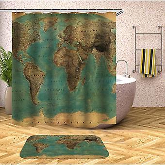 Embossment World Map Shower Rideau