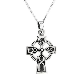 "Celtic Cross Collana Ciondolo - Include 22"" Catena"