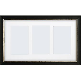 Multi Aperture Photo Frame Instagram Wall Mount Falmouth Black Picture Collage
