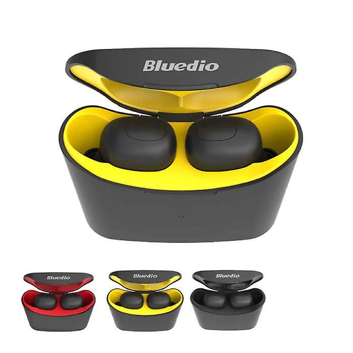 Bluedio T-Elf Mini TWS Wireless Bluetooth 5.0 Earpieces Air Wireless Pods Earphones Earbuds Yellow