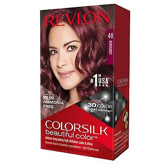 Revlon colorsilk hair color kit, #48 burgundy, 1 ea