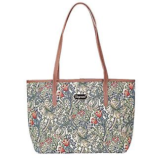 William Morris-gylden lilje skulder tote bag av signare billedvev/Coll-glily