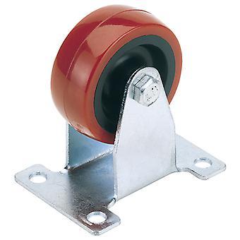 75mm dia. vaste plaat bevestiging polyurethaan wiel-S. W.L. 100Kg-60575F