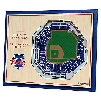 YouTheFan hout Wall deco Stadium Philadelphia Phillies 43x33c