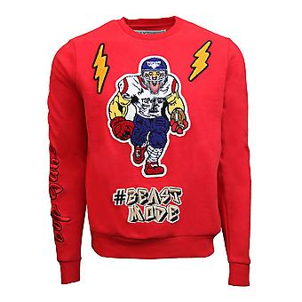 Top Gun Beast Mode Crewneck Sweatshirt Red