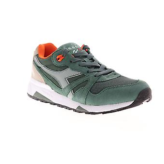 Diadora N9000 III  Mens Green Suede Lace Up Low Top Sneakers Shoes