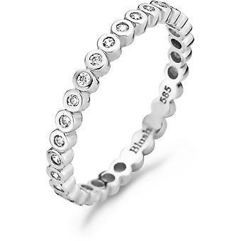 Ring Blush 11209WZI - White gold ring and zirconium oxides serti closi 2/3mm Women