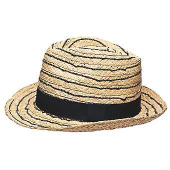 Unisex adulto qualità pieghevole aperto tessere pianura Band estate sole Cappello Trilby 13127