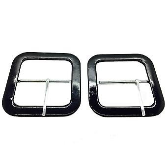 Square Black Coated Buckle