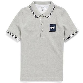 قميص بولو هوغو بوس للبنين رمادي فاتح
