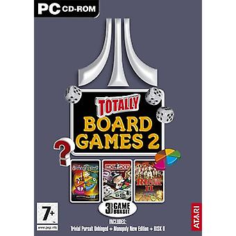 Totally Board Games 2 (Trivial Pursuit UnhingedRisk 2Monopoly New Edition) (PC CD) - As New