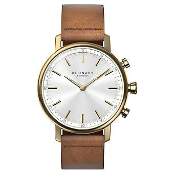 Kronaby 38mm CARAT Bluetooth Brown Leather Strap A1000-0717 S0717/1 Watch