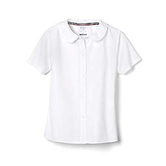 French Toast Girls' Little Short Sleeve Modern Peter Pan Collar Blouse, White...