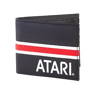 Atari Logo Black Bi-Fold Wallet with Webbing Detail
