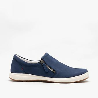Josef Seibel Caren 22 Damen Leder Casual Trainer Blau