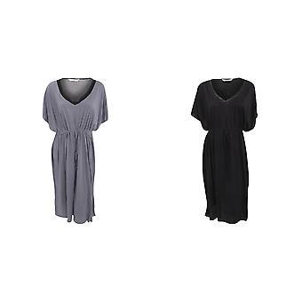 Womens/Ladies Kaftan Pyjama Top With Drawstring Waist