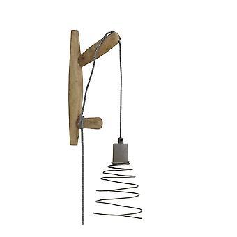 Light & Living Wall Lamp 15x7x33 Cm STADEN Wood Natural+cement